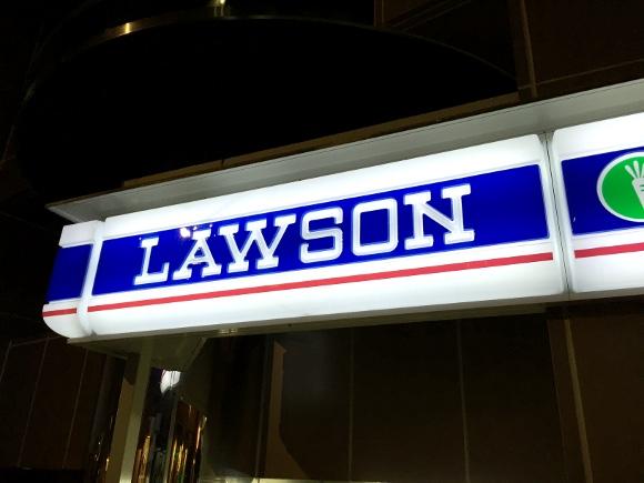 【衝撃画像】まさかの場所に設置された「ローソンの看板」が天空すぎてツラい