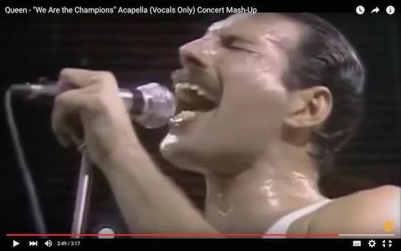 【衝撃動画】クイーンの『We Are the Champions』をアカペラで聴くとヤバいことになる