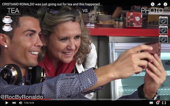 【検証動画】クリスティアーノ・ロナウドがいきなりカフェに現れたらどれだけの人が写真をおねだりするのか