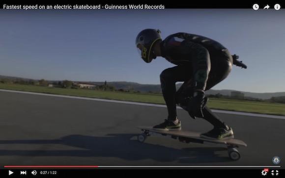 【出オチ注意】電動スケボーで世界最速95キロを出すとこうなる