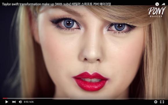 【大変身】 韓国人女性がメイクでテイラー・スウィフトになってみたら超激似
