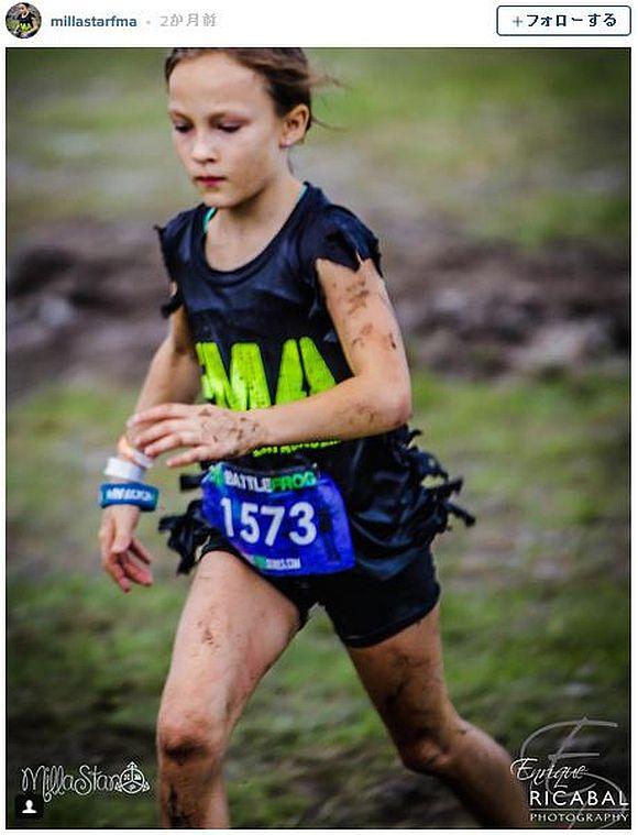 いじめに遭っていた9歳の少女が「海軍隊員向けの64キロものレースを24時間」で完走! いじめ反対を訴える姿が感動を呼ぶ