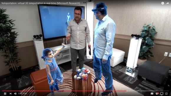 【動画】近未来キター! マイクロソフトの新技術「ホロポーテーション」が完全にスター・ウォーズのアレ