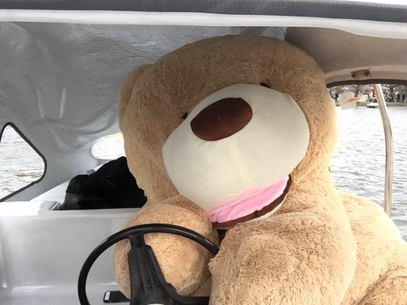 【冒険】クマのぬいぐるみでボートに乗ったらこうなったクマー