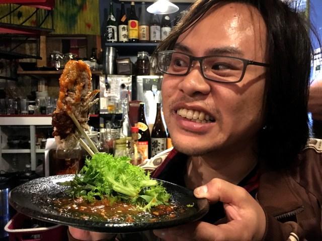 """【衝撃の味】深海生物 """"オオグソクムシ"""" と """"ミルクガニ"""" を食べてみた / 高田馬場『米とサーカス』"""