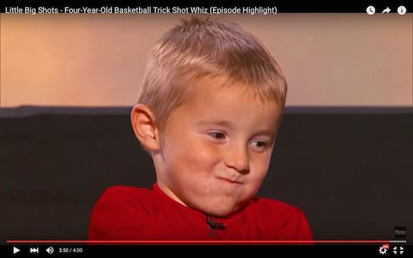 【衝撃バスケ動画】将来はNBA選手で決まり!? 4歳なのにシュートを決めまくる天才少年がもはや神