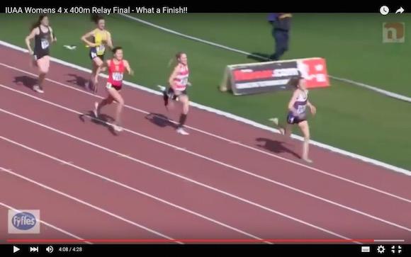 【衝撃陸上動画】まるでディープインパクトのような末脚! 1600メートルリレー走で本当にあった前代未聞のラストスパート