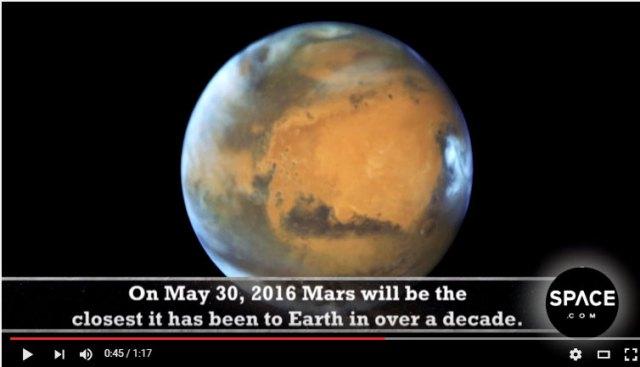 【星空速報】5月31日は「スーパーマーズ」火星が地球に大接近! 19時30分以降に南の空を見上げよう / 肉眼で真っ赤に輝く火星を確認できるぞ!!