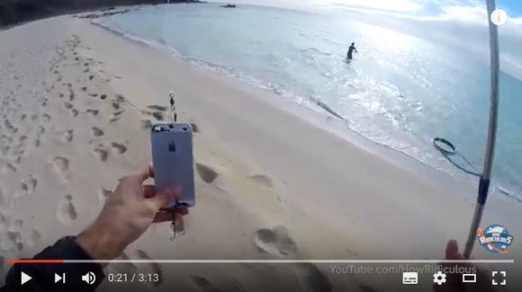 【動画あり】iPhone をルアーに釣りしたらこうなった!