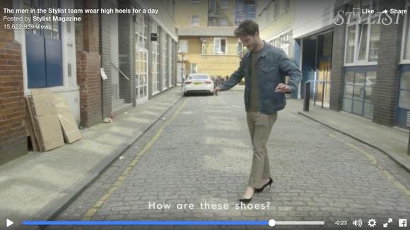 【実験動画】男性たちがハイヒールを履いて生活してみた → こうなった!「どうやって歩くんだ」 「走るのなんて絶対無理!」