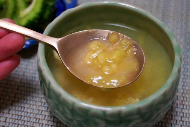 【ゴーヤの日】ワタまで食べられるって知ってた? ゴーヤのワタでスープを作ってみたよ!! 優しい味で体にじわる!
