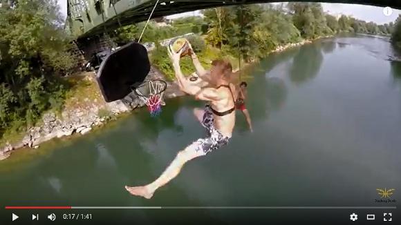 【動画】世界一エクストリームなダンクシュートが激撮される