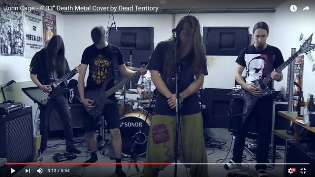 【衝撃動画】無音の音楽「4分33秒」をデスメタルでカヴァーしたらこうなった / ネットの声「ナイスアレンジ」「半端ない男たちだ!」