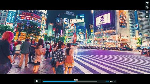 【全画面表示推奨】東京の夜をタイムラプスで撮影した動画がとってもキレイ!「渋谷スクランブル交差点」「ゆりかもめ」「東京駅」など