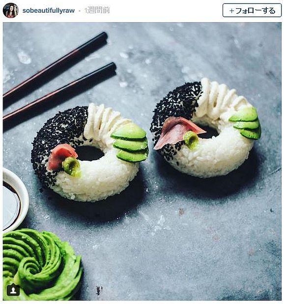 クロナッツの次は「寿司ドーナツ」だ! 海外でジワジワと人気を集めているらしいぞ!!