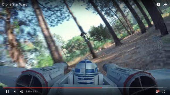 【動画】必見! ドローンを飛ばして再現した『スター・ウォーズ』の空中戦シーンが超リアル!!