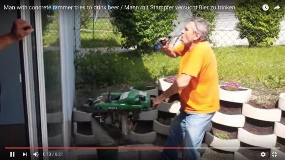 【爆笑動画】工事中にビールを飲もうとした結果 → 完全にドリフじゃねーか!
