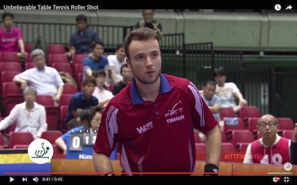 【衝撃卓球動画】絶対に返せない魔球「ローラーショット」を中国人選手が放つ