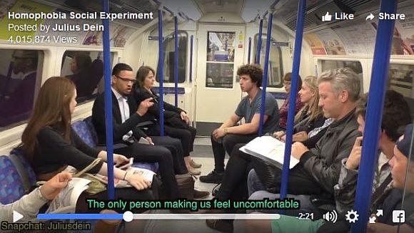 【社会実験】公共の場でゲイ嫌いな男性が同性カップルに暴言を吐いたらこうなった! 周囲の反応に心を動かされてしまうぞ!!