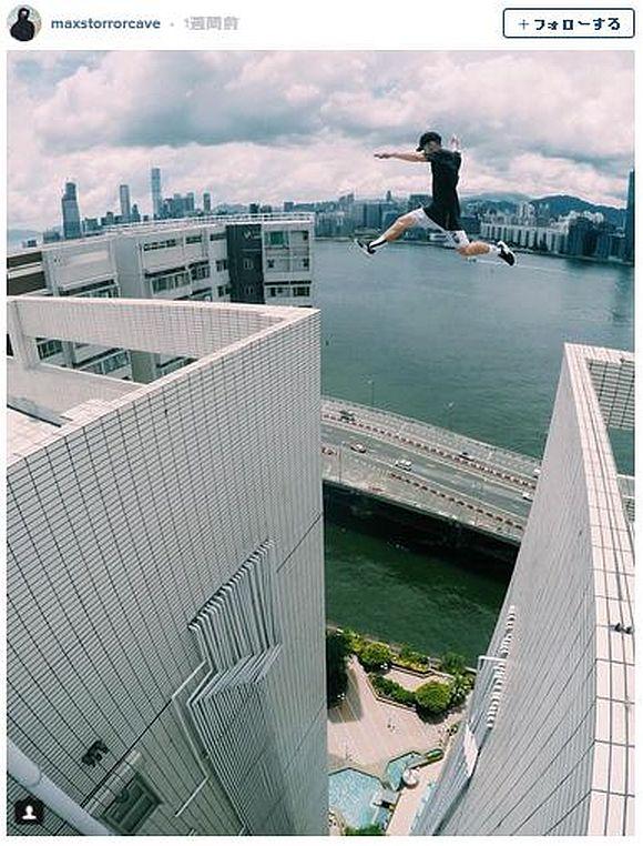 【動画あり】一歩間違えば真っ逆さま! 超高層ビルの間を飛び越えるパルクールに冷や汗かきまくりな件