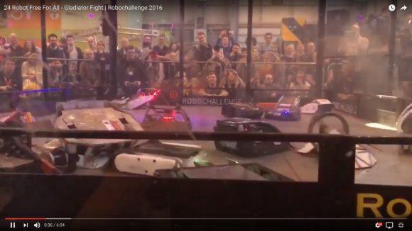 【動画】24台のロボットが一斉に大暴れ! 英国版「ロボットバトル」が完全にカオス!!