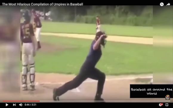 【衝撃野球動画】まるで芸人! いくら何でもお茶目すぎるだろっていう審判たち