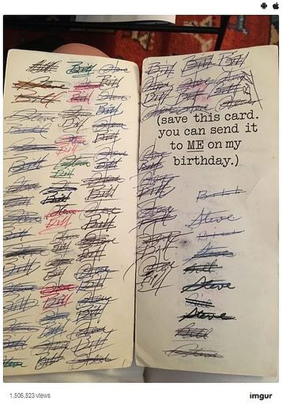 【47年間で94回】手抜き以上の愛情! 毎年同じ誕生日カードを交換し続けた男性2人が話題