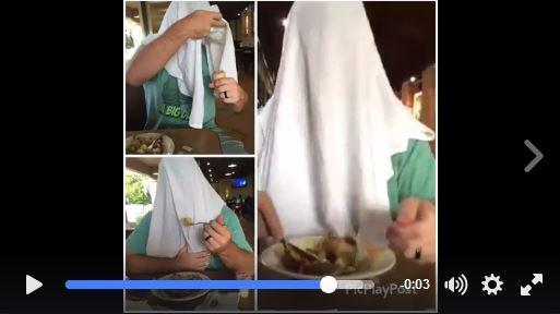 【授乳問題】ある男性が「オバQのように頭に毛布をかぶって食事をする」のには深い理由があった