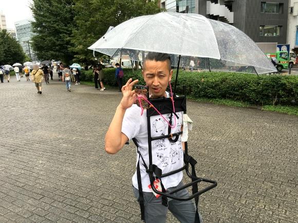 天才的! ポケモンGOを「雨の日もハンズフリーでプレイする装備」を大発明!!