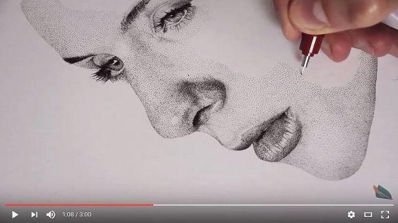 【根気ヤバイ】「点描」のスゴさと大変さがよく分かる動画