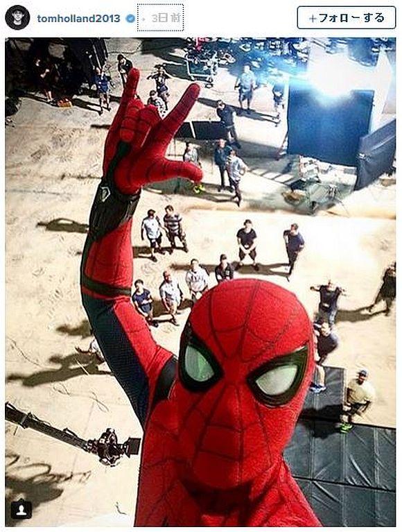 新生スパイダーマンの自撮りが「カッチョ良すぎる」と話題に! いかにもクモ男なアングルが最高なのだ!!
