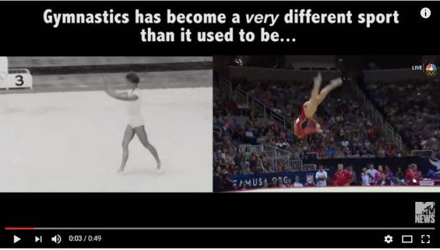 【リオ五輪】体操ってこんなに進化してたの!? リオで見られた技が超人的だったのがよーくわかる映像 / 60年前との比較動画が話題