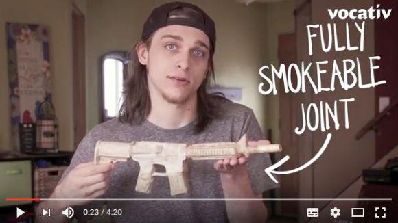 """【新ビジネス】芸術的な """"大麻タバコ"""" を作る職業「ジョイントローラー」が大盛況! 機関銃型ジョイントは約71万円ナリ"""