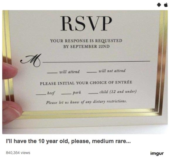 よーく読むとゾッとしちゃう「結婚式の招待状」が激写される