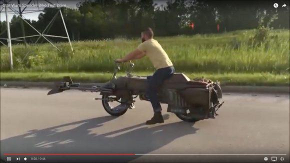 【STAR WARS】ジョージ・ルーカスもビックリ! 宙に浮かない「スピーダーバイク」がリアルすぎて激ヤバい!!
