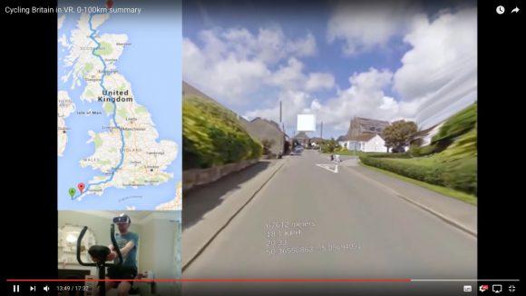 【動画あり】え? Googleマップとエアロバイクで「イギリス縦断」にチャレンジする強者が現れる