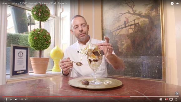 【レシピ大公開】高級すぎてギネス認定された 「約10万円のアイスクリームサンデー」の作り方動画
