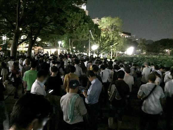 【動画あり】ポケモンGO「ミニリュウダッシュ」で大人の群れ大移動 / 上野公園不忍池が完全にカオス