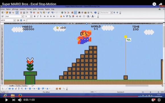 【衝撃事実】万能すぎる Excel シートは「スーパーマリオ」までも再現できる