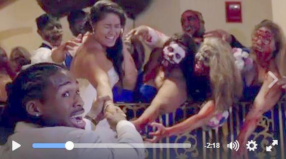熱狂ファンが『ウォーキング・デッド』をテーマにした結婚式を開いちゃった! まるでハロウィン・パーティーのような式がメチャ楽しそう!!