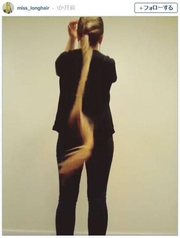 インスタで「お団子ヘアをハラリとほどく動画」が流行中! 最新トレンドらしいからロングヘアの女性は速攻マネすべし!!