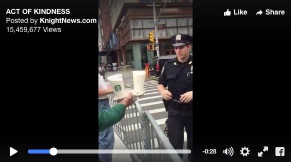 「優しいスタバ店員」が激撮されネット上で話題! ニューヨーク爆破事件後に警察に大量の差し入れ / 店員「当然のことをしたまで」