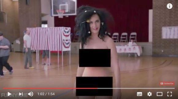 【マジか】あのケイティ・ペリーがスッポンポンの動画を公開! 大統領選挙のために一肌脱いじゃった!!