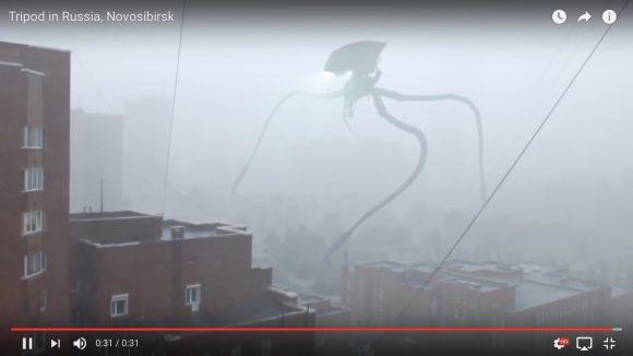 【おそロシア】シベリアに「巨大エイリアンが現れた」とネット上が一時騒然 → 超リアルなCGだったことが判明