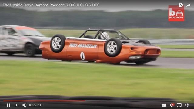 【動画】両さん顔負け! 車好きの警官が自作した『上下逆のレーシングカー』が絶対に二度見するほどヤバい!!