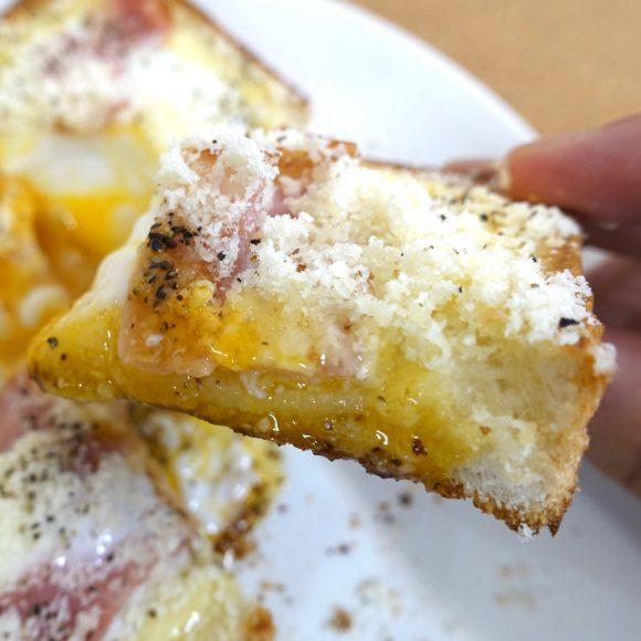 【簡単レシピ】トースターで5分! SNSで話題の「カルボナーラトースト」が卵トロ~リで奇跡のウマさ!!