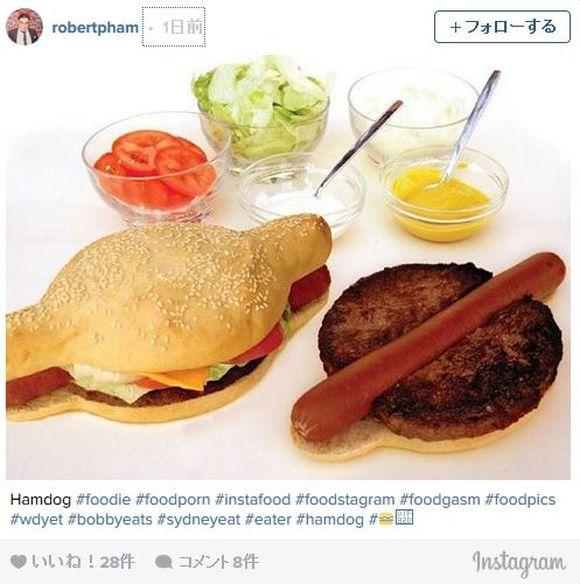 【これは予想外】パンズの形状が斬新すぎる「ハンバーガーとホットドッグを合体させた夢の食べ物」爆誕!