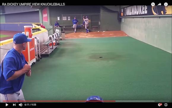 【絶対打てない】ナックルボールの不規則な軌道を疑似体験できる! 審判目線から撮影したブルペン映像がスゴい