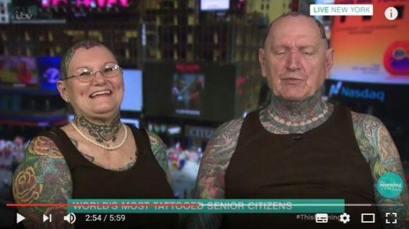 「最も多くのタトゥーを入れた老カップル」としてギネス世界記録を持つ男女がマジでハードコア! その見た目に反して馴れ初めが超ロマンチックな件