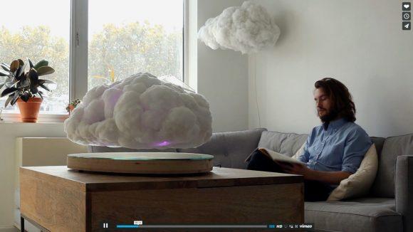 【動画あり】超リアル! まるで本物の雲のように「フワフワと宙に浮くBluetoothスピーカー」がマジでスゲェ!!